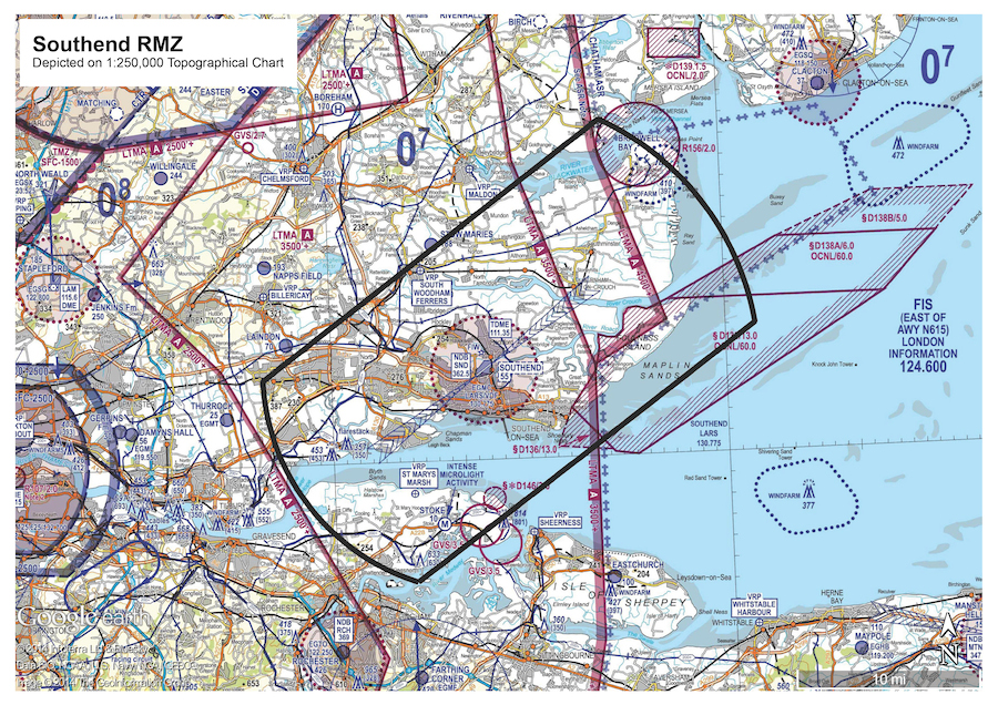 Southend Airport RMZ
